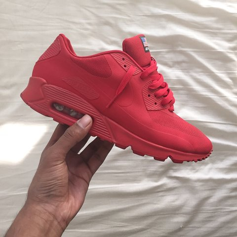 21096684300 Nike Air Max 90 Independence Day Red Size  EU43 US9.5 9 10 - Depop