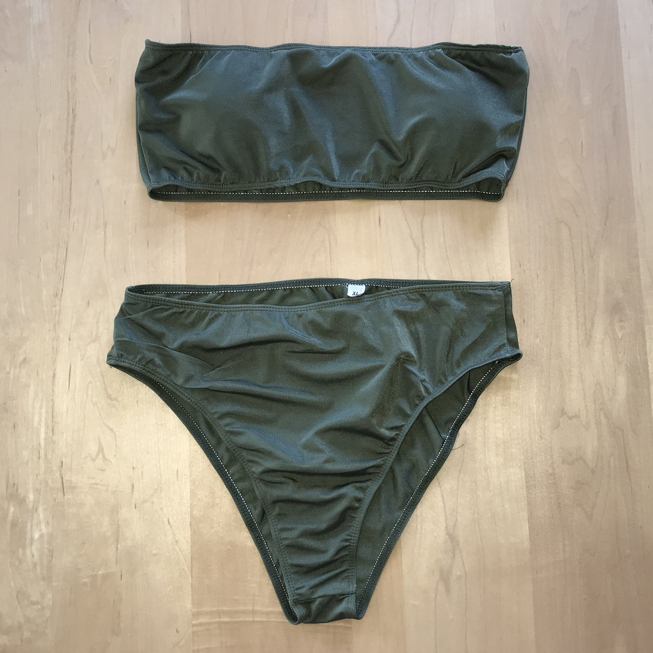 40cfbbf854 ARMY GREEN SWIMSUIT XL this is what happens when you order a - Depop