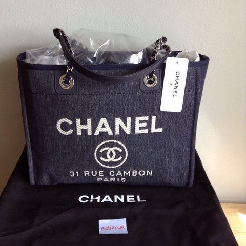 1a63466ee9c283 @geneli1908. 4 years ago. New Jersey, USA. Brand new Chanel deauville tote  ...