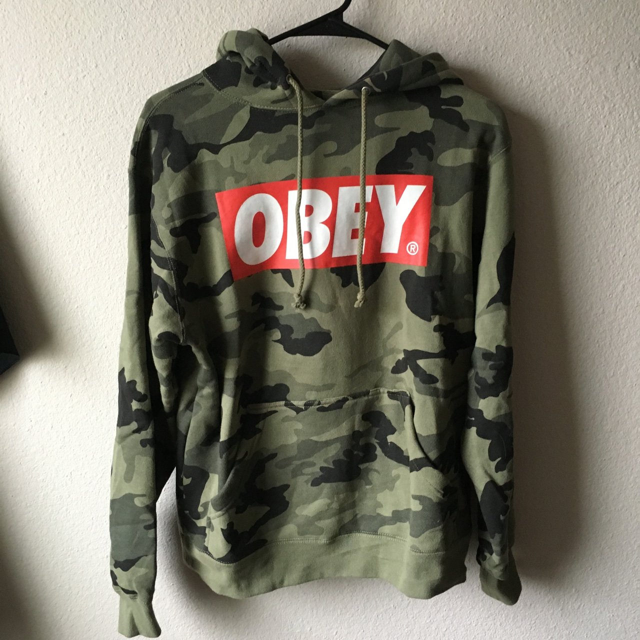 c2793d868dcd OBEY camo hoodie. EXCELLENT condition! I think I wore it and - Depop