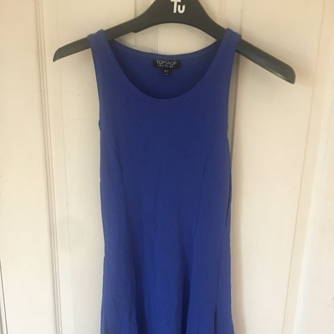 e56027a808b23 Blue dress from topshop I ve only worn it once! Really on - Depop