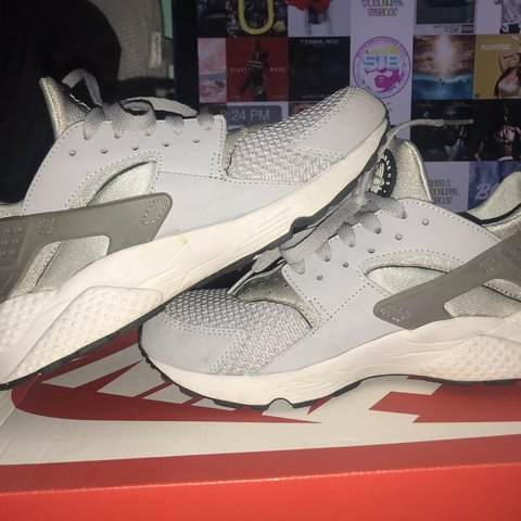 b974e530922c Nike air huarache! -grey colorway -unisex but is in men any - Depop
