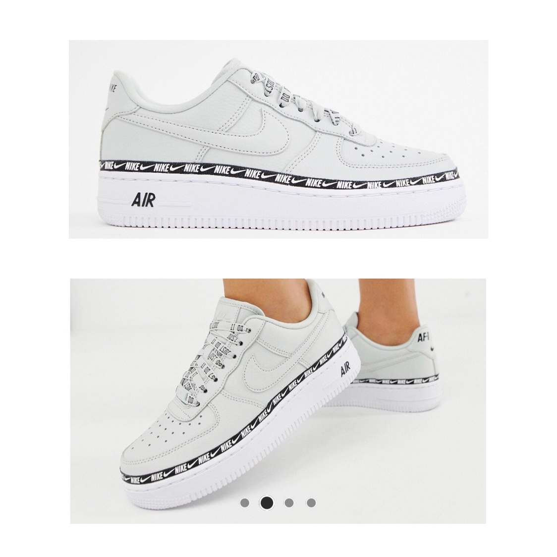 Light silver' Nike Air Force 1 swoosh