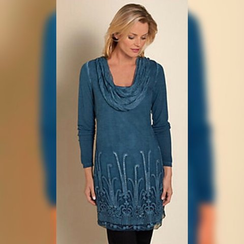 90997568a55 @minnieandnance. 2 months ago. Brownsville, United States. Soft  Surroundings Womens Tunic ...