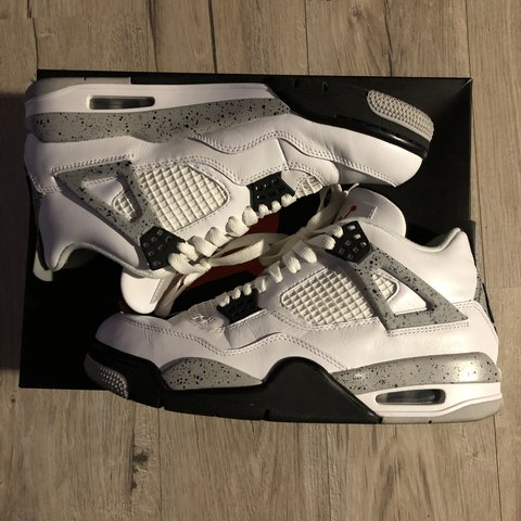 a5745c7914d7 Jordan 4 White Cement UK 6.5 - 2016 release included Nike a - Depop