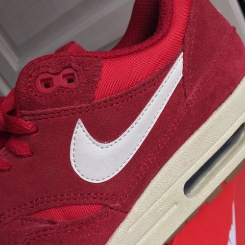 2cbef0544178d3 ... sweden nike air max 1 essential. beautiful red colour. size uk box depop  6e525