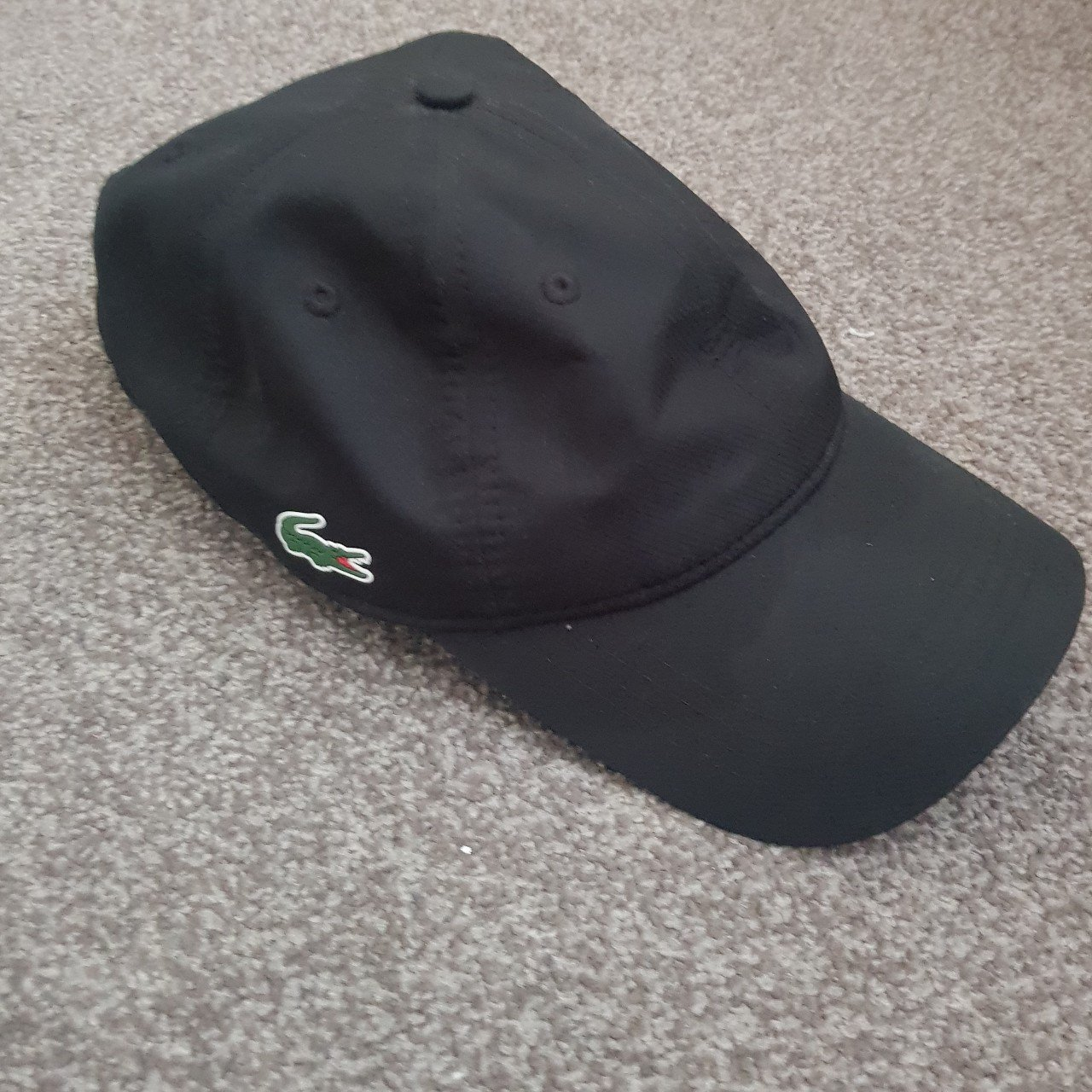 LACOSTE mens adjustable cap. Good condition 8 10. Black one - Depop baaea340aac2
