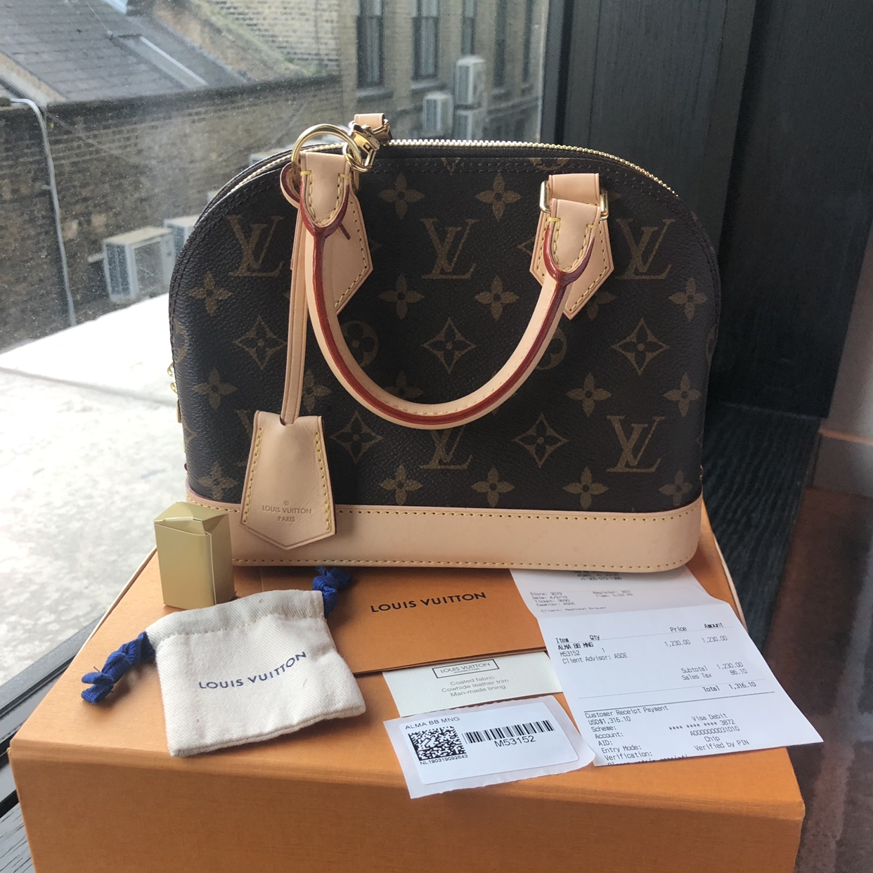 Brand New Louis Vuitton Alma Bb In Monogram Canvas Depop