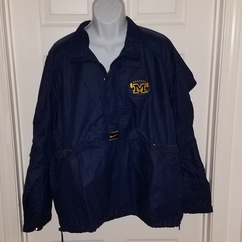 Vintage Nike team sports University of Michigan windbreaker - Depop 431209eea