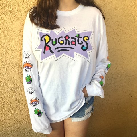 """328ada25ece @thriftstealzla. 9 months ago. Los Angeles, United States. • Nickelodeon """" Rugrats"""" long sleeve t-shirt"""