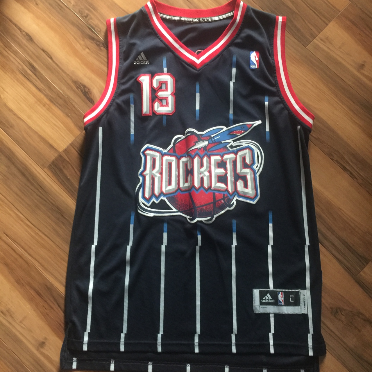 watch d8c39 9faea Houston Rockets James Harden adidas stitched jersey ...