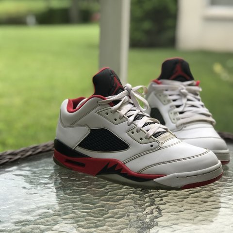 quality design 53818 b415a  fergzkickz. 6 months ago. Tampa, United States. NIKE AIR JORDAN 5 V RETRO  LOW FIRE RED   BLACK ...