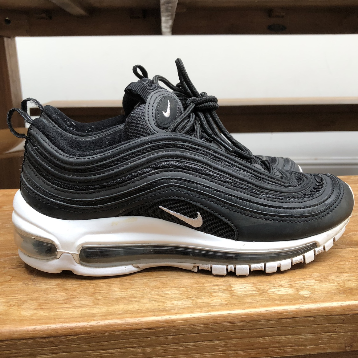 nike air max 97s black and white size 3
