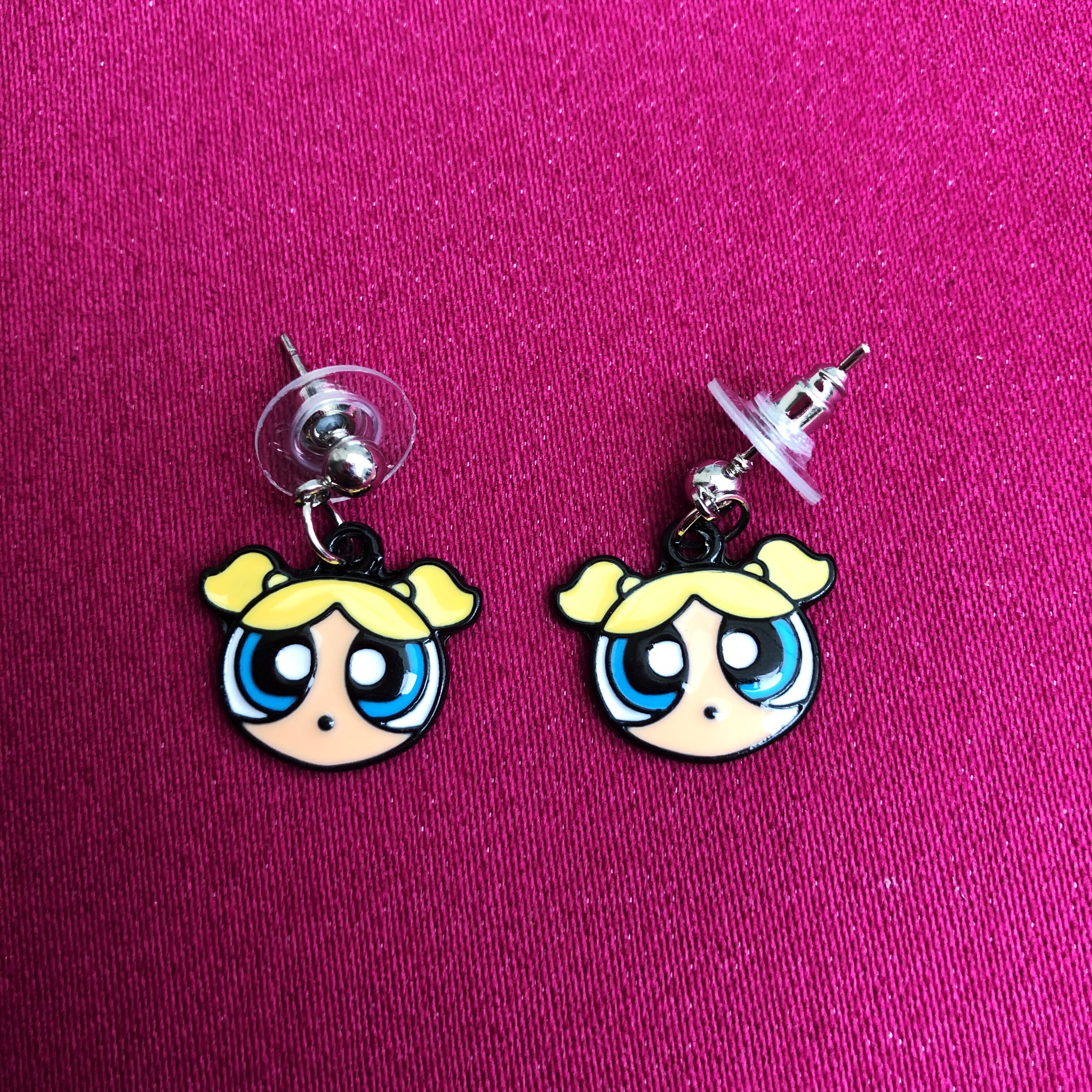"🌙🍒✨ Super Cute Powerpuff Girls ""Bubbles"" Y2k Cartoon by Depop"