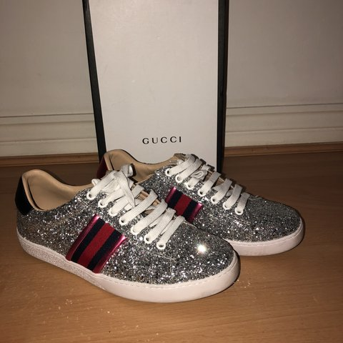 a3fd3060b56 gucci glitter ace sneakers genuine leather new