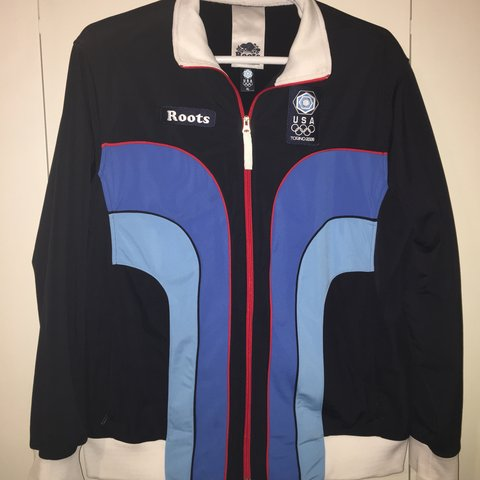 38880d8a7e53 Roots USA Torino 2006 track jacket. This thing is an If - Depop