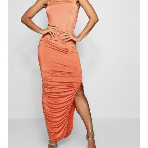 696d68d9f750 @nuricochea. 3 months ago. New York, United States. Slinky Ruched Bandeau  Midaxi Dress Brand New with tags. Size 2
