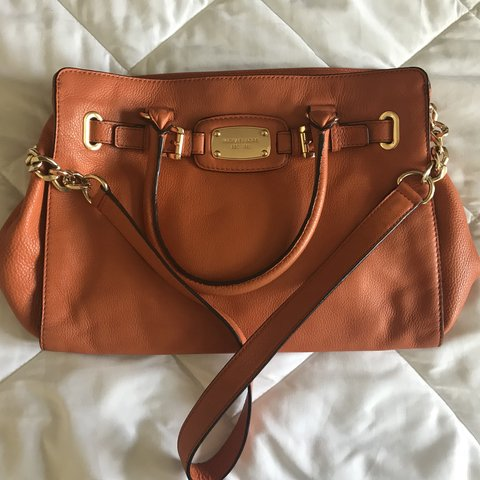 4131feec9 Orange Hamilton Purse Brand: Authentic Michael Pre-loved / - Depop