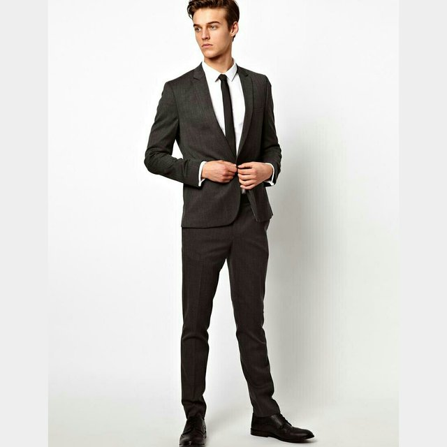 ASOS Wool Blend charcoal skinny fit mens suit. Great condition ...