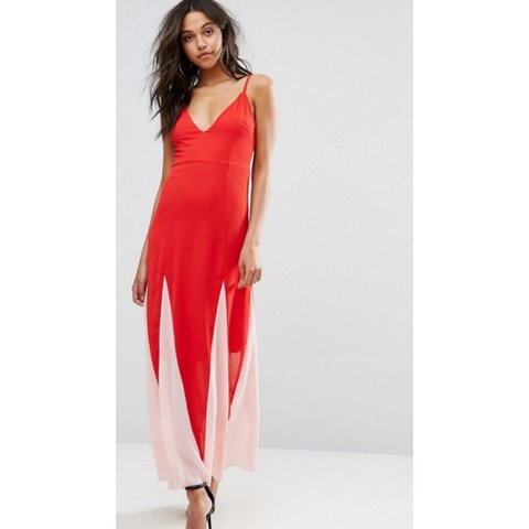 0f47092b6780d Boohoo Colour Block Maxi Dress. New with tags. Size 8. #maxi - Depop