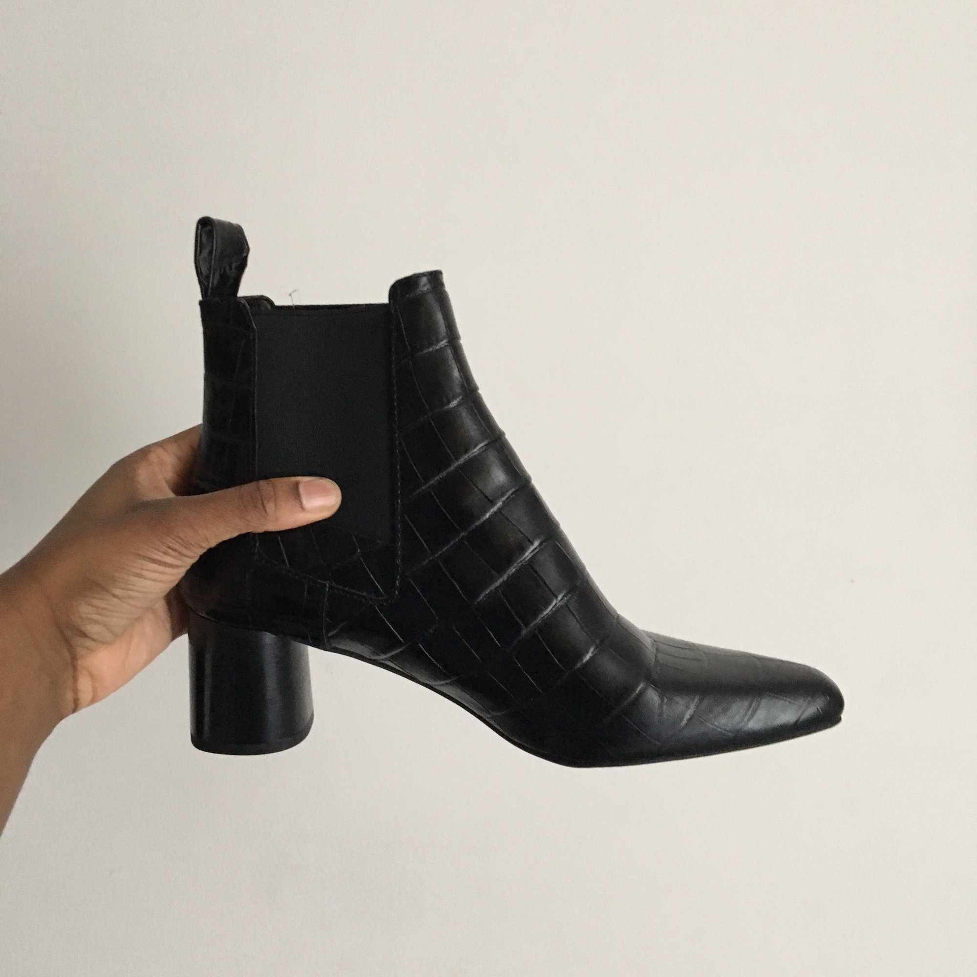 1a52f9d7f8a ZARA leather high heel ankle boots / UK 7 /Brand... - Depop