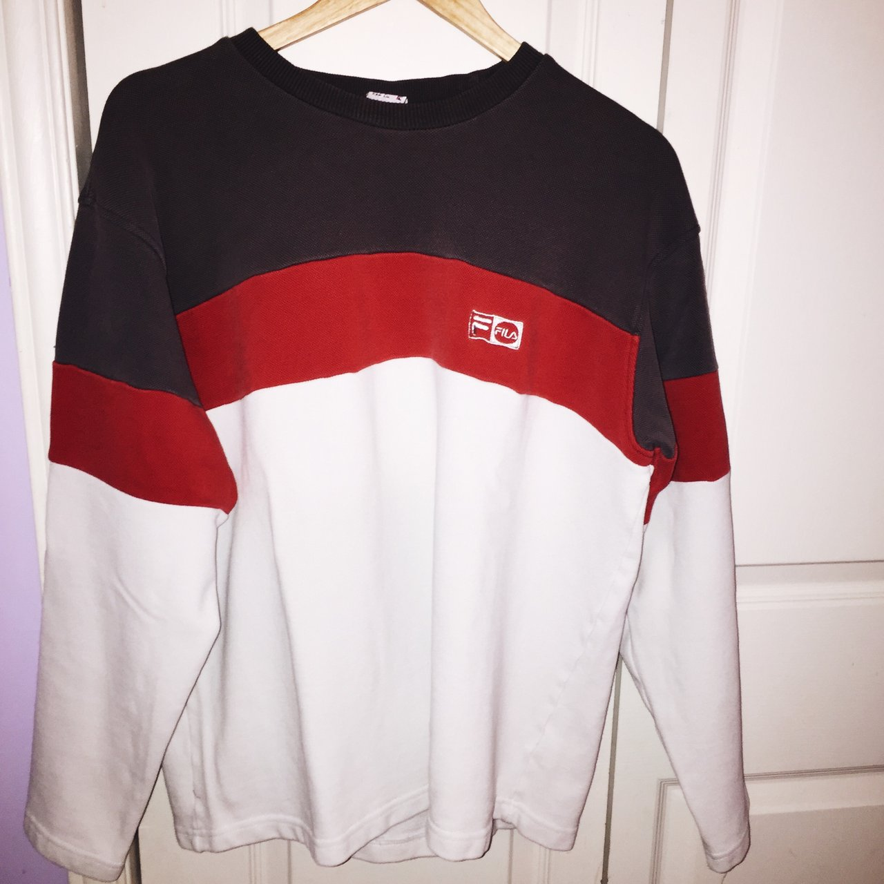 8e4dc1e1fffd @lindskeast. 4 months ago. Burlington, Canada. AUTHENTIC VINTAGE FILA  SWEATER ...