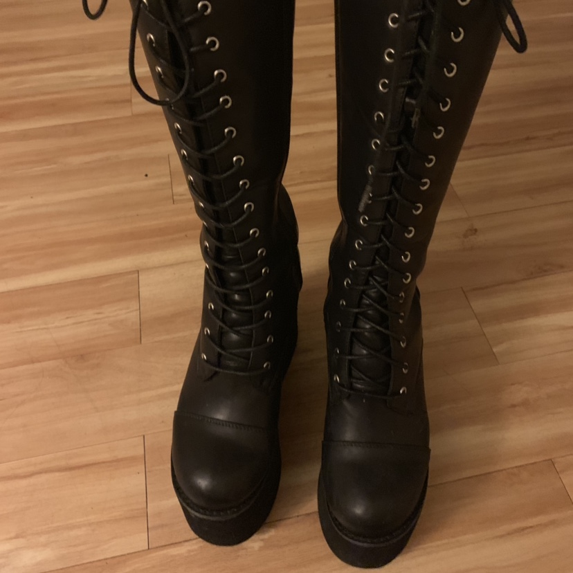 Hot Topic brand platform boots, almost