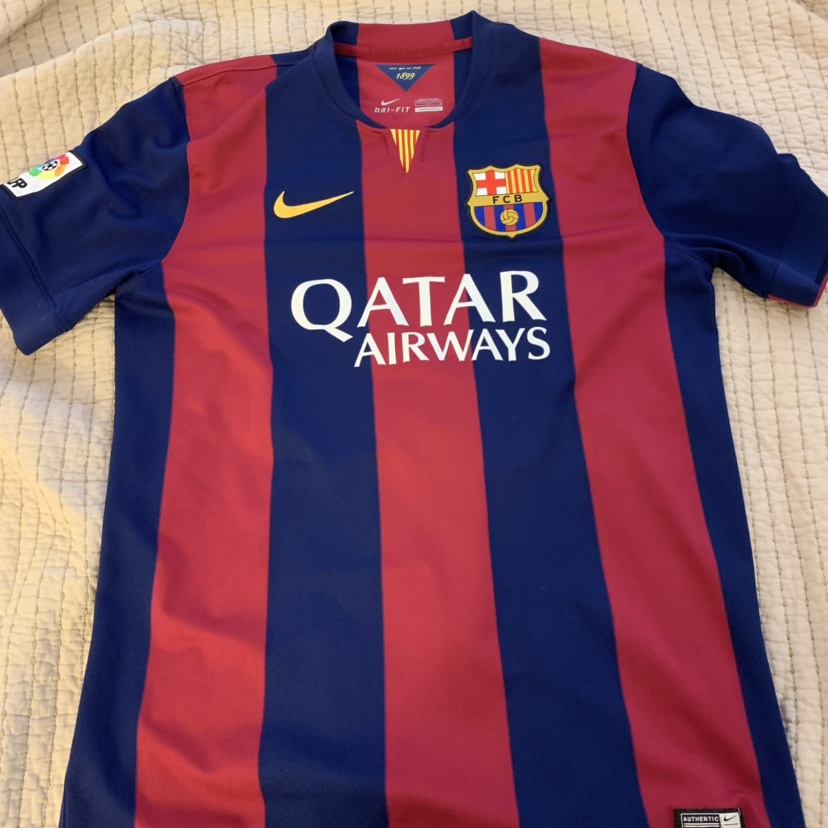 size 40 6e9df 5eba0 2014/2015 Barcelona Neymar Junior Jersey, Large in... - Depop
