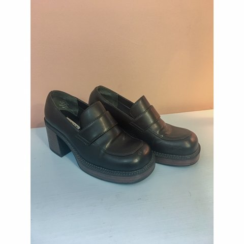 811d9ae9d8a Chunky platform oxford loafer shoes
