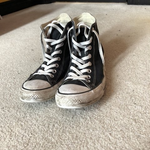 f54abde451eb Men s size 8 women s size 10 black converse chucks Dm for - Depop