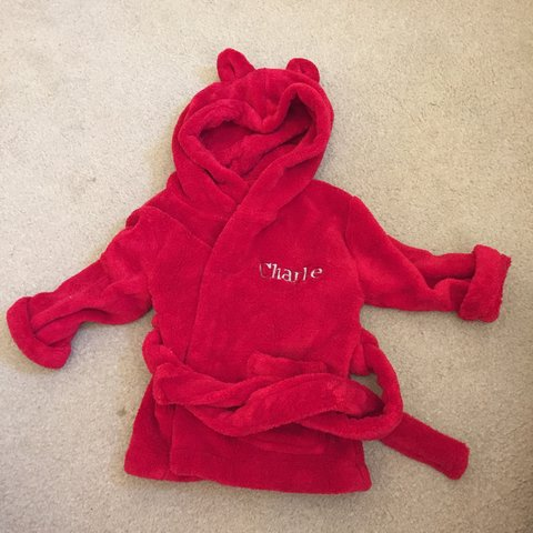 c781cc7f @jessiey2k. 4 years ago. United Kingdom. My 1st years personalised baby dressing  gown ...