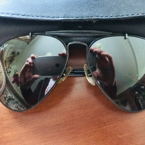 e0a80fe0e65be0  xxjsavage. 9 hours ago. United States. Rare vintage Black Ray Ban aviator  shooter glasses ...