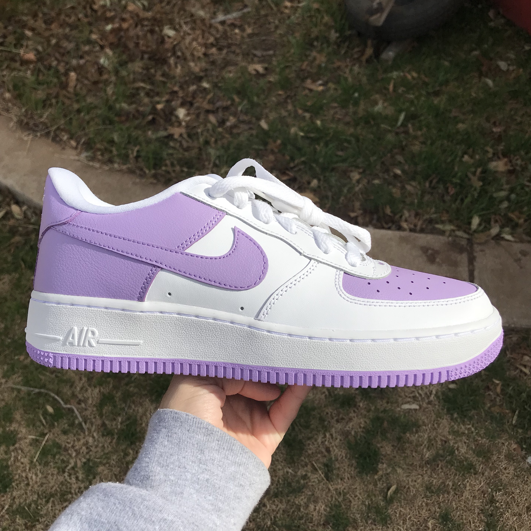 Lavender Nike Air Force 1! These are a