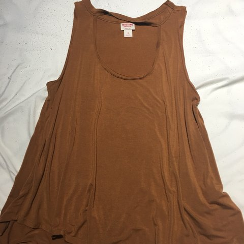 d25c5c9c9dd30 Cute mustard yellow brown tank top Size - small No - Mossimo - Depop