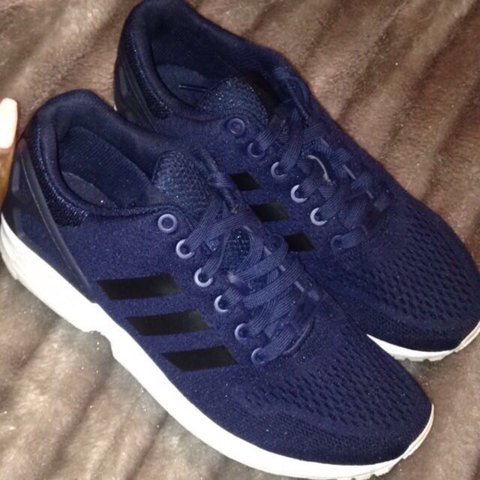 79f0b99e7 Navy blue ZX FLUX. Size 7  adidas  trainers only been worn - Depop