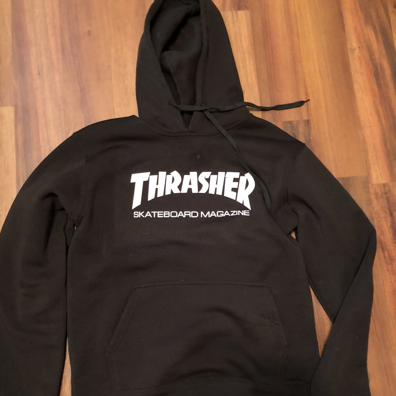 e10004f98314 Thrasher Hoodie Worn once been sitting it storage ever - Depop