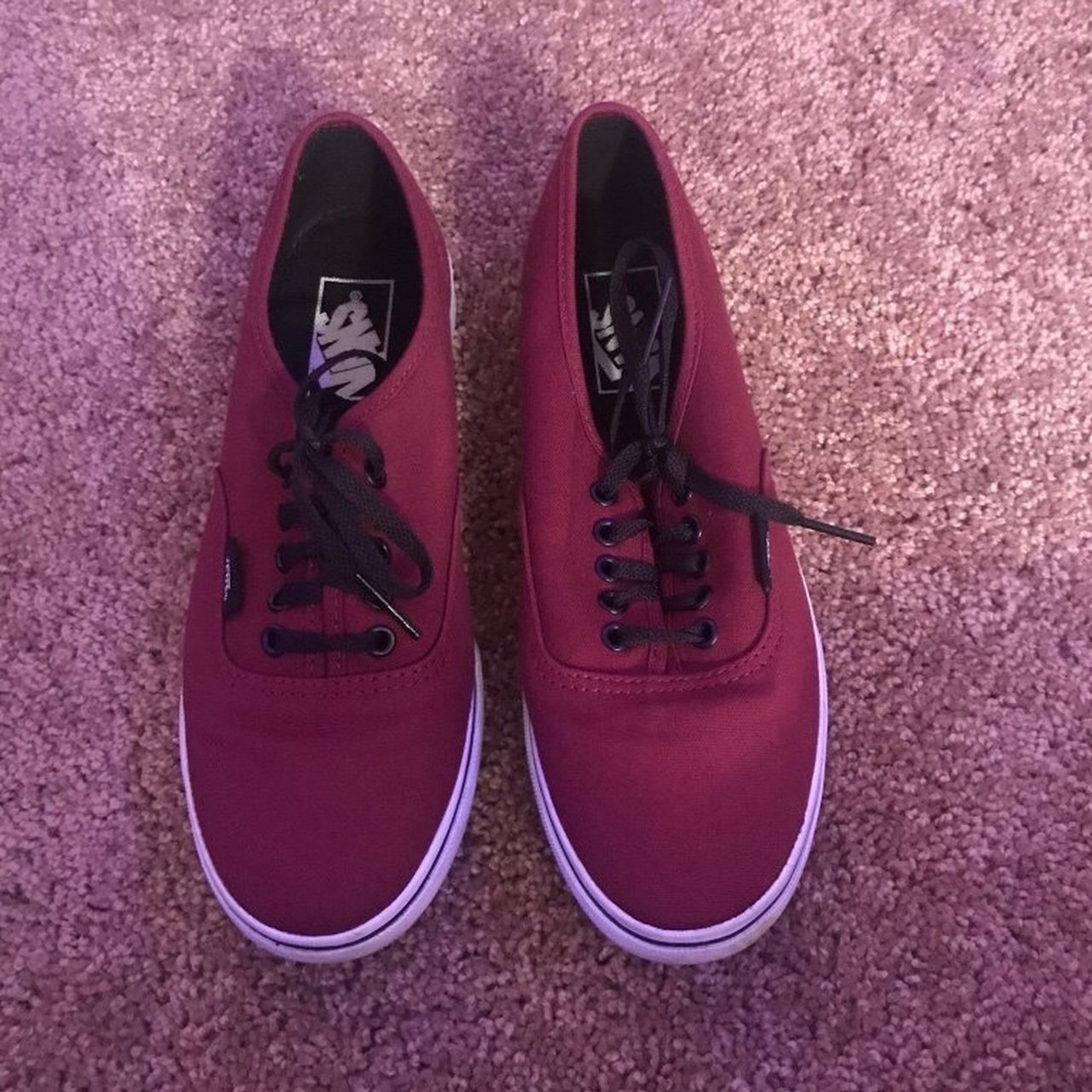 fb16574aeca4 burgundy authentic lo pro vans. great condition