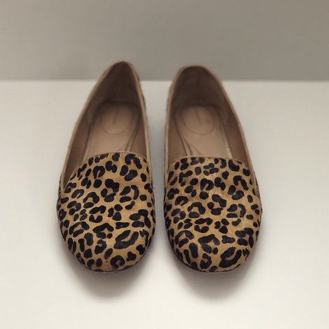"8ab61d6cf9cb @carpathiascloset. 7 days ago. Boston, United States. Land's End ""Vivian"" Calf  Hair Leopard ..."