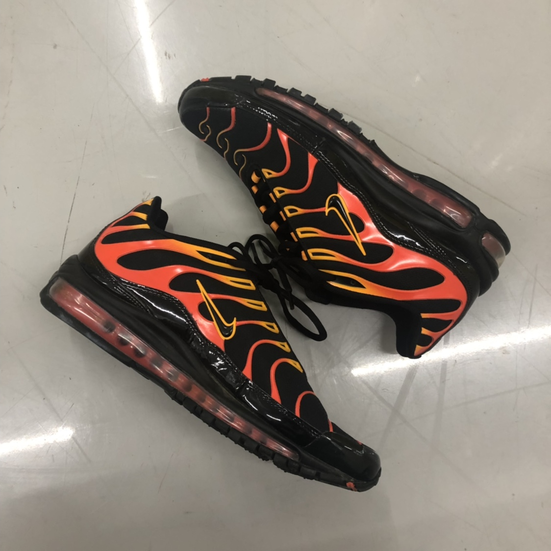 Nike Air Max 97 Plus Black Shock Orange (Worn once) Depop