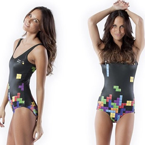 a2d07c0faf Black Milk Retro Gamer Swimsuit. Worn once, as a body suit. - Depop