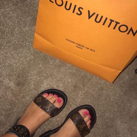 f09750378cc7 Louis Vuitton nomad sandals New Size 6 Selling as a a - Depop