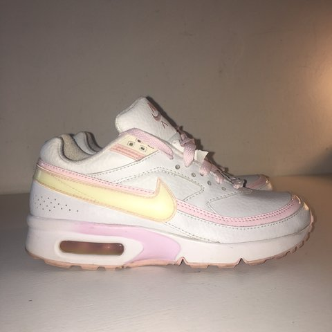 33bba79391e Cutest rare baby pink X white Nike air max trainers from - - Depop