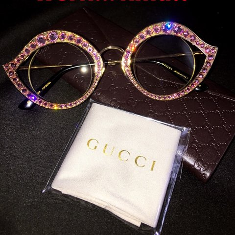 2be27db21f1 FINAL PRICE DROP! Gucci 41mm Crystal Accented Cat Eye One - Depop
