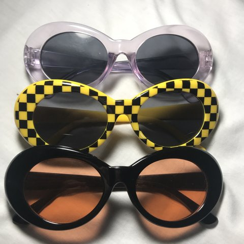 ca4230560b11b Clout goggles pack!! Includes yellow checkered clout black I - Depop