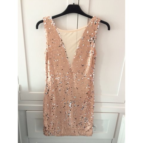 ab9a89bd5453 @mollieex. 3 years ago. Gloucestershire, UK. Boohoo nude Sequin dress, size  8.