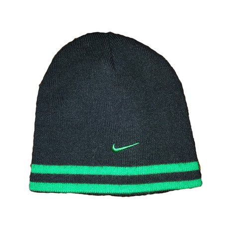 bb09ede058546f @melanieholmes. 2 months ago. Rocky Hill, United States. Small Nike green  and black beanie