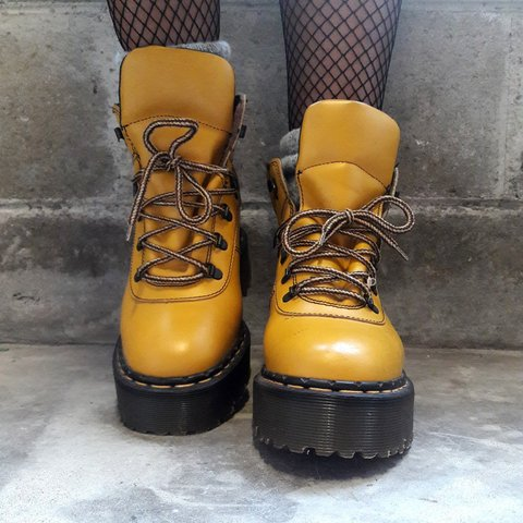 00074133a ⚠️RARE⚠ School Bus Yellow Doc Martens 8280 boots. I have to - Depop