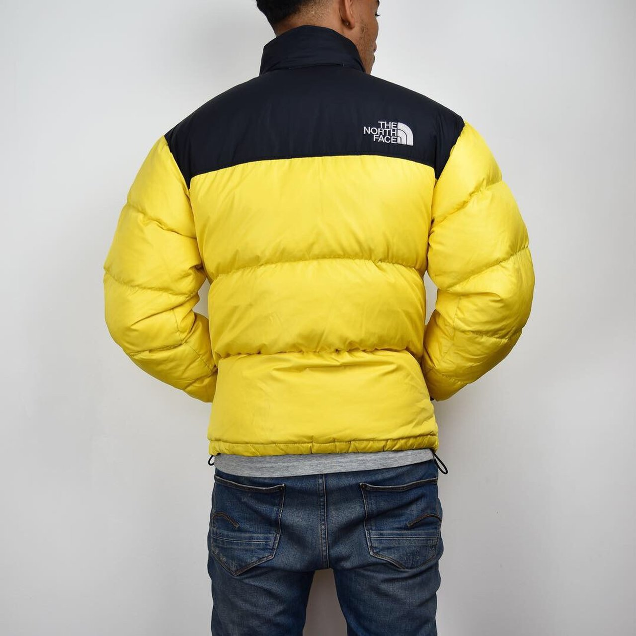 Mens YELLOW North Face Nuptse 700 Down S Size SMALL Puffer - Depop 1fd2560e0