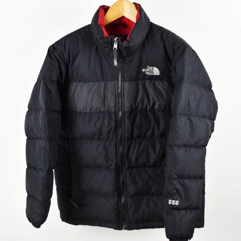 Womens North Face Black L Size Large 550 Down Puffer Jacket - Depop 9668eb08f