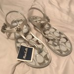 99de96608b56 Coach  Abbigail  Flip Flop Sandals Dark Navy Blue Color New - Depop